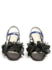 MARNI £550 *Current* 2018 Floral Embellished Leather Sandals Shoes 39 6 NEW