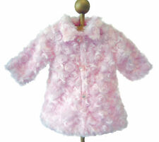 "Pink Fur Coat for 18"" American Girl Doll Clothes GREAT PRICE"