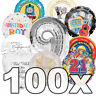 100 Assorted Clearance Wholesale Job Lot Bulk Bargain Foil Packaged Balloons