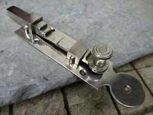 "Vintage 7-3/4"" Brass Chrome Door Latch Slide Bolt Lock Shutter Door Hardware"