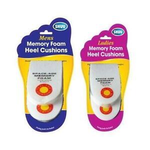 SHUU 2 Piece Memory Foam Heel Cushions Ladies/Men Shoe Boot Comfort