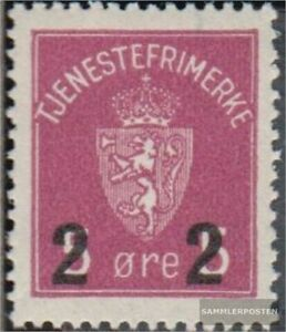 Norway D8a (complete issue) with hinge 1929 service marks Crest