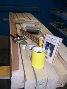 Balsa surfboard shaping set or kit