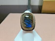 14k Labradorite yellow gold ring GENUINE LABRADORITE sz 6.25
