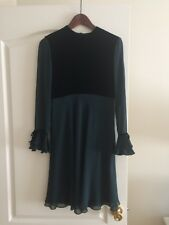 AKRIS VELVET CHIFFON DRESS SIZE 4