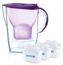 BRITA Wasserfilter MARELLA 2,4 L in PURPUR mit BRITA®Memo u. 3 MAXTRA+ Kartusche