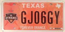Texas HOUSTON DYNAMO Forever Orange license plate Major League Soccer Football