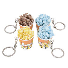 Simulation Food Popcorn Key Chain Ring Keyring Charm Pendant Purse Keychain