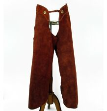 Leather Cowboy Chaps Handmade Mens Western Ranch Riding Wear Brown