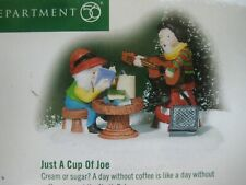 Dept 56 North Pole Accessory 2001 Just A Cup Of Joe 56811 Retired 2003