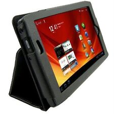 "LEATHER FOLIO STAND CASE POUCH FOR ACER ICONIA TAB A100 A101 7"" TABLET BLACK NEW"