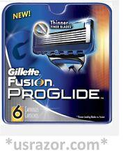 6 GILLETTE FUSION Proglide Razor Blades Refills Cartridges Fits Flex Ball Shaver