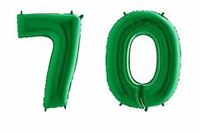 Giant Green Number '70' Balloon Decoration