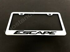 1x ESCAPE STAINLESS STEEL LICENSE PLATE FRAME + Screw Caps*