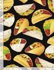 Tacos Tossed on Black B/G-Timeless Treasures-Fat Quarter