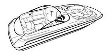 7oz BOAT COVER SEA RAY 210 SUNDECK W/O EXTD SWPF 1998-2001