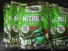 20 pairs: Garden Chem Long Cuff Disposable Nitrile Gloves - 10 packs of 2 pairs