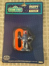 Sesame Street GROVER #0 Cake Cupcake Topper PVC Figurine Birthday NEW IN PACKAGE