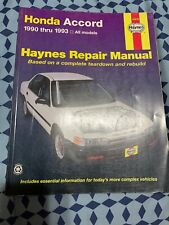 Honda Accord [90-93] Haynes Repair Manual
