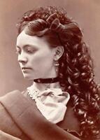 Antique Photo ... Victorian  Beauty , Woman Portrait .. Photo Print 5x7