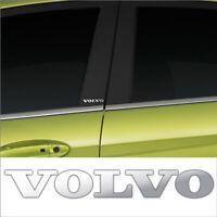 2 X VOLVO CHROME VINYL DOOR PILLAR STICKERS DECALS GRAPHIC ADHESIVE CAR MOD