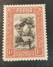 Papua 1932 Pictorials1 1/2d black/red Mint  Hinged J10