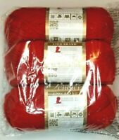 Lion Brand VANNA'S CHOICE Yarn ~ Scarlet ~ Lot of *3* New Skeins