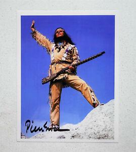 Pierre Brice als Winnetou original signiert Autogramm superschönes Großfoto rar!