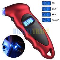 Digital Tire Pressure Gauge Meter Tester Backlight 150 PSI Car Bike Motorcycle
