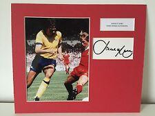 RARE David O'Leary Arsenal Signed Photo Display + COA AUTOGRAPH