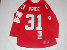 CAREY PRICE SIGNED 2014 TEAM CANADA OLYMPIC JERSEY LICENSED GOLD MEDAL JSA COA