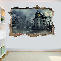 GHOTHIC CASTLE HORROR GOTH 3D SMASHED WALL STICKER ROOM DECORATION DECAL MURAL