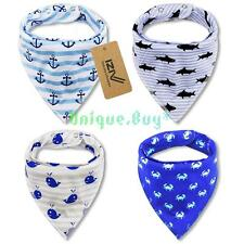 4pcs/lot IZIV Baby Kids Bibs Adjustable Bandana Saliva Towel Triangle Head Scarf