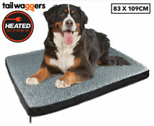 Large Electric Heating Dog Bed Warm Mat Pet Mattress Cushion Soft Pad Heater Rug
