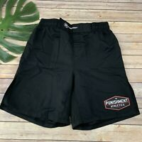 Punishment Athletics Mens MMA Fighting Shorts Size L Solid Black