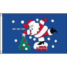 Christmas Ho Ho Ho Flag 5Ft X 3Ft Xmas Santa Father Christmas Festive Banner New
