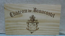 CHATEAU DE BEAUCASTEL CHATEAUNEUF DU PAPE WOOD WINE PANEL END
