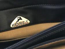 KORET Vintage LEATHER PURSE Handbag TOTE ~ NAVY BLUE ~ Made in USA