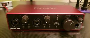 Pre-owned Focusrite Scarlett 2i2 3rd Gen. USB Audio Interface Free Shipping!