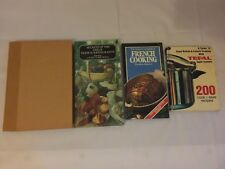 4x Vintage French Cooking Books Sainsbury Tefal Larousse French Restaurants