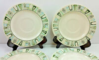 Taylor Smith Taylor Cathay 6.5 Inch Saucer Starburst Atomic Lot Of 6 Vintage