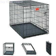 Midwest Life Stages 42 Inch Single-Door Folding Metal Large Dog Crate Pet Kennel