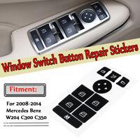 Autocollant de réparation de bouton de fenêtre pour Mercedes Benz W204 C300