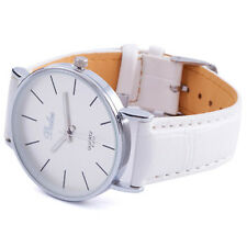 Fashion Sport White Unisex Men Women Wrist Watch Bracelet Girl PU Band Dial 2255