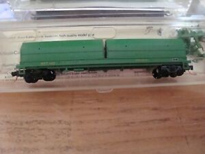 N Scale Red Caboose MKT coil car with all grab irons & MTL trucks NEW!