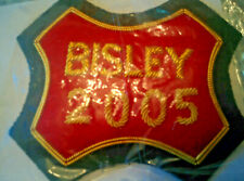 Embroidered cloth Bisley badge dated 2005