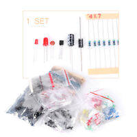 Electronic Resistors & Capacitors & Transistors & Diode & LED Assorted Kit
