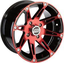 Moose Racing ATV UTV Type 387X Wheels 14X7 4/1104+3 Red Front