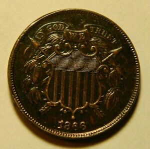 1866 Two Cent piece #655 Great eye appeal!