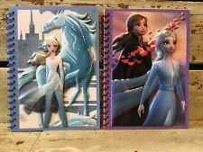 2 Disney Frozen II Journals Notebooks Elsa Anna Raised 3D Images Lined Pages Lot